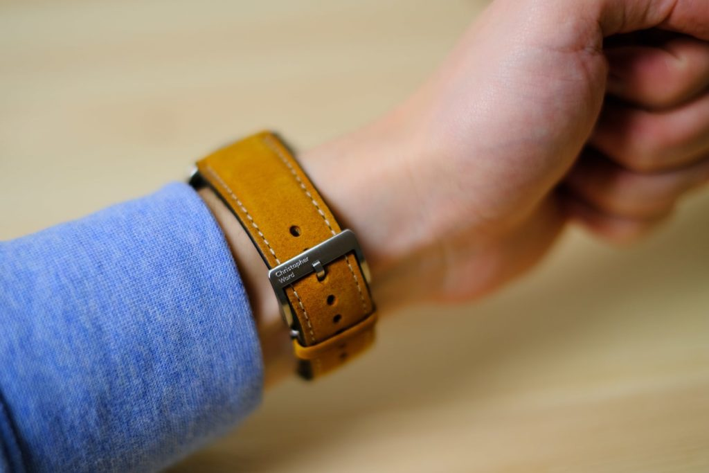 Vintage oak leather strap with buckle