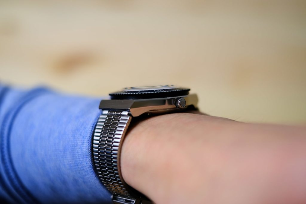 Slim case view of watch