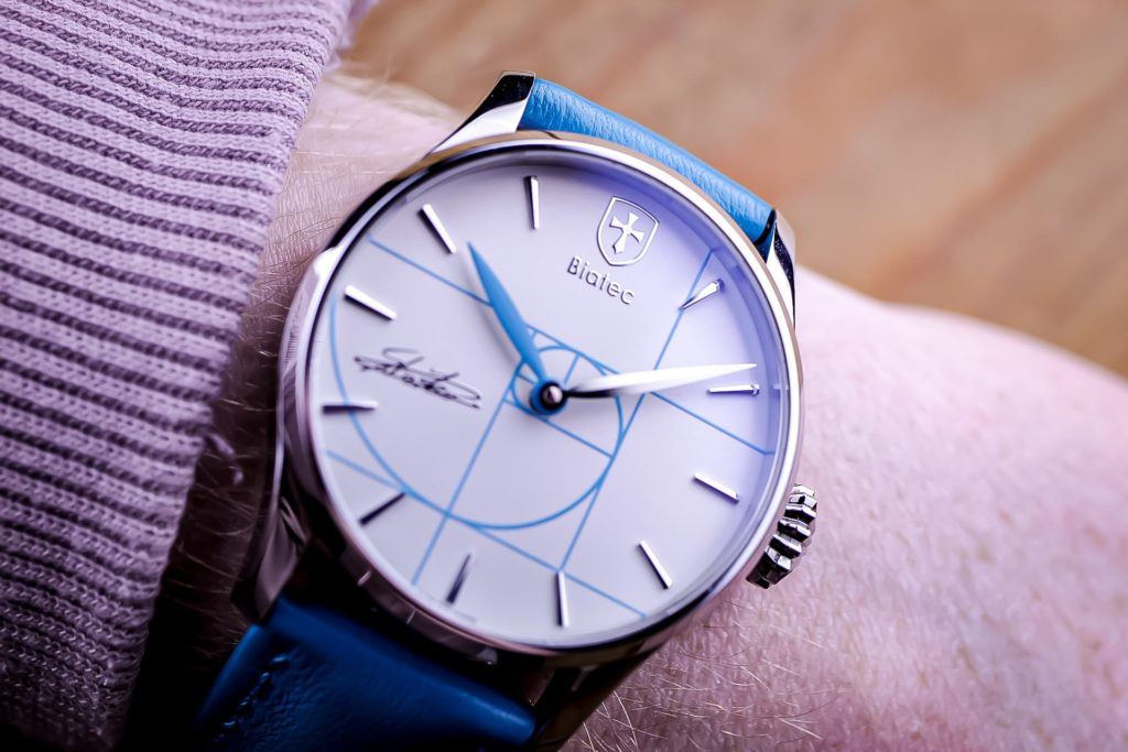 Macro close up of watch dial