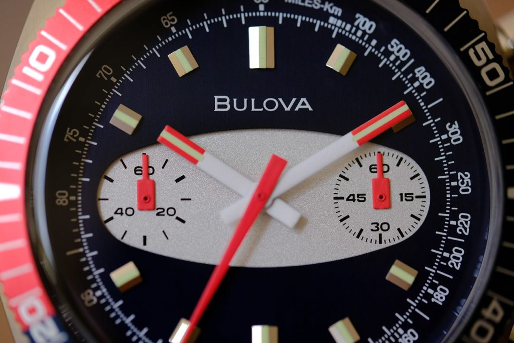 Macro of dial with dual subdials