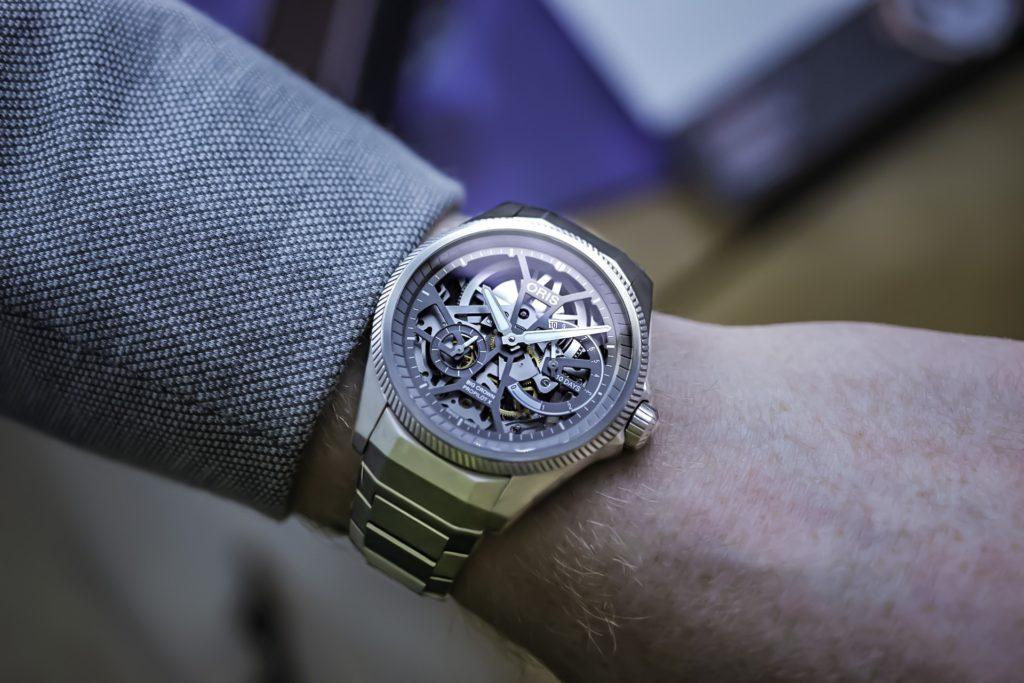 Fancy skeleton wrist watch photo