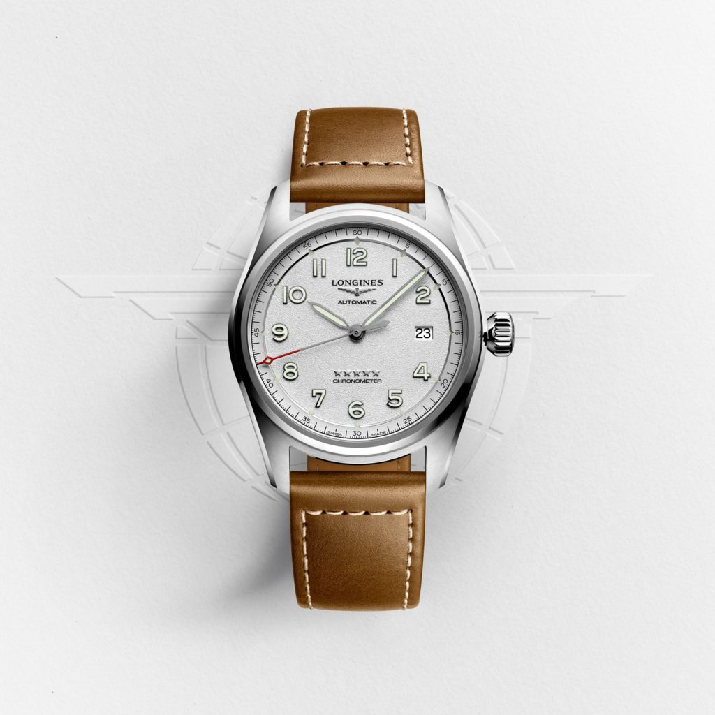 Longines spirit silver dial