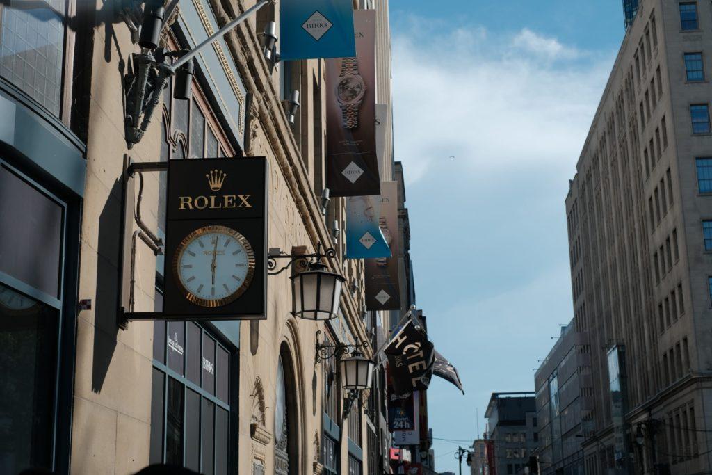 Rolex authorized dealer Birks Montreal