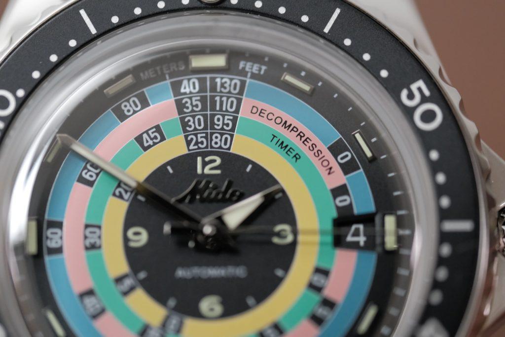 Super macro of Rainbow dial