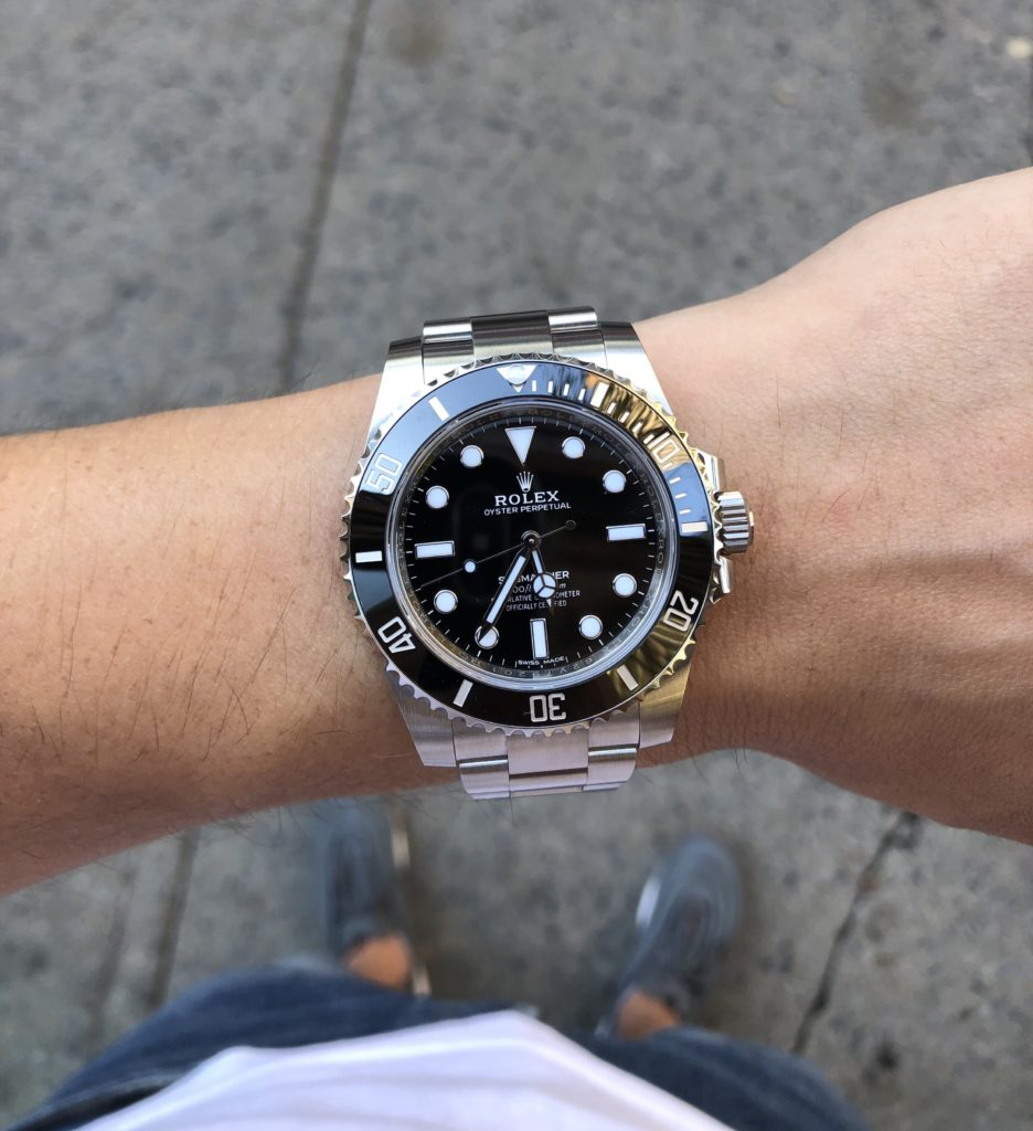 Wrist shot of Submariner 114060 no date