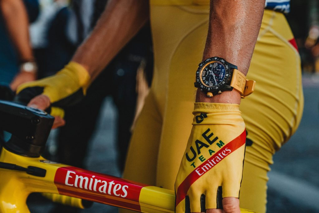 Endurance Pro on wrist of Tadej Pogacar