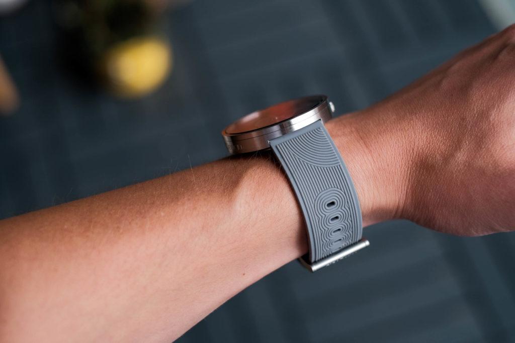 Side of watch on wrist
