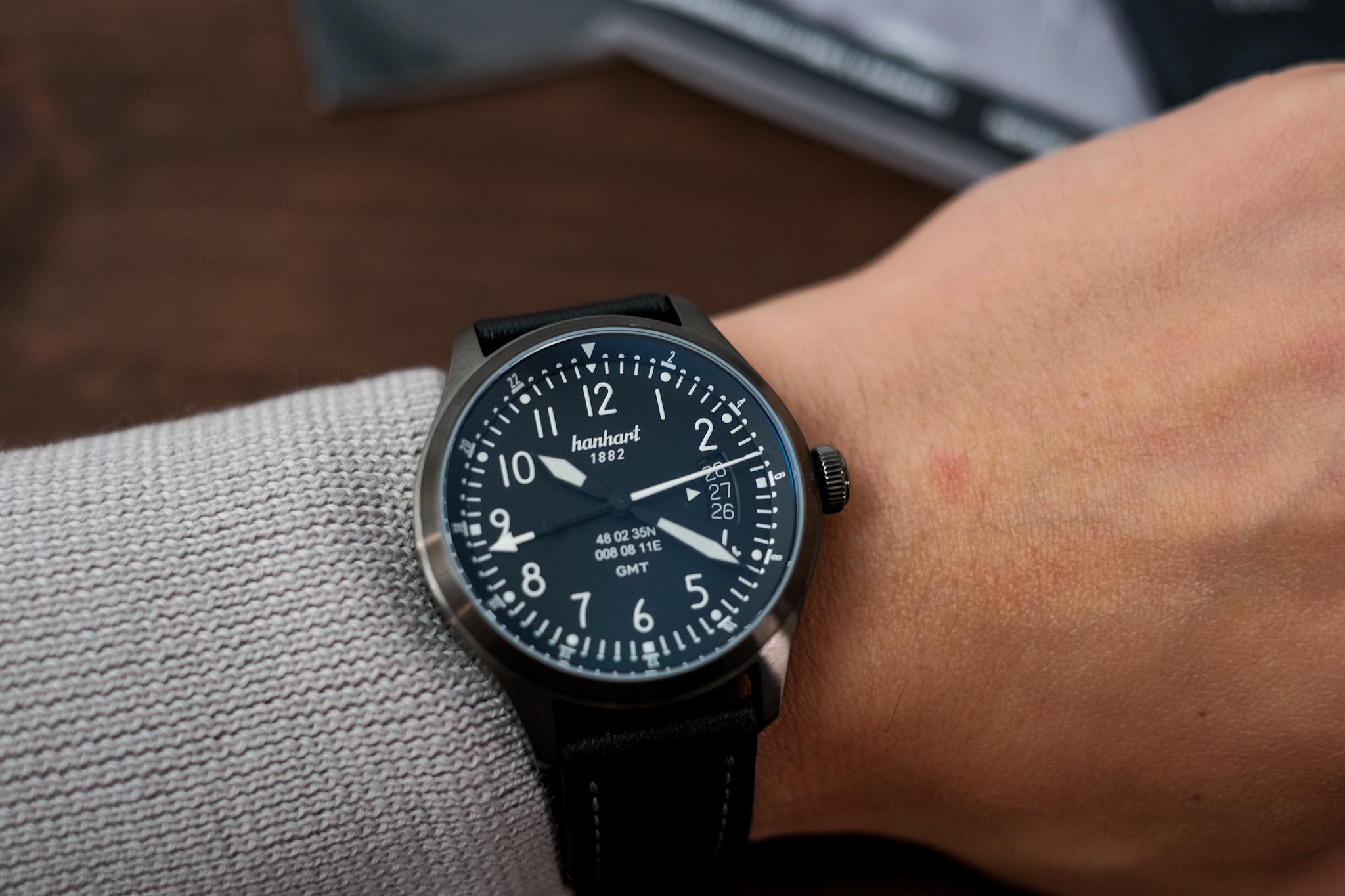 S 105 OE GMT wrist shot photo