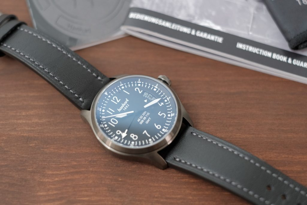 Reflection on crystal hanhart watch