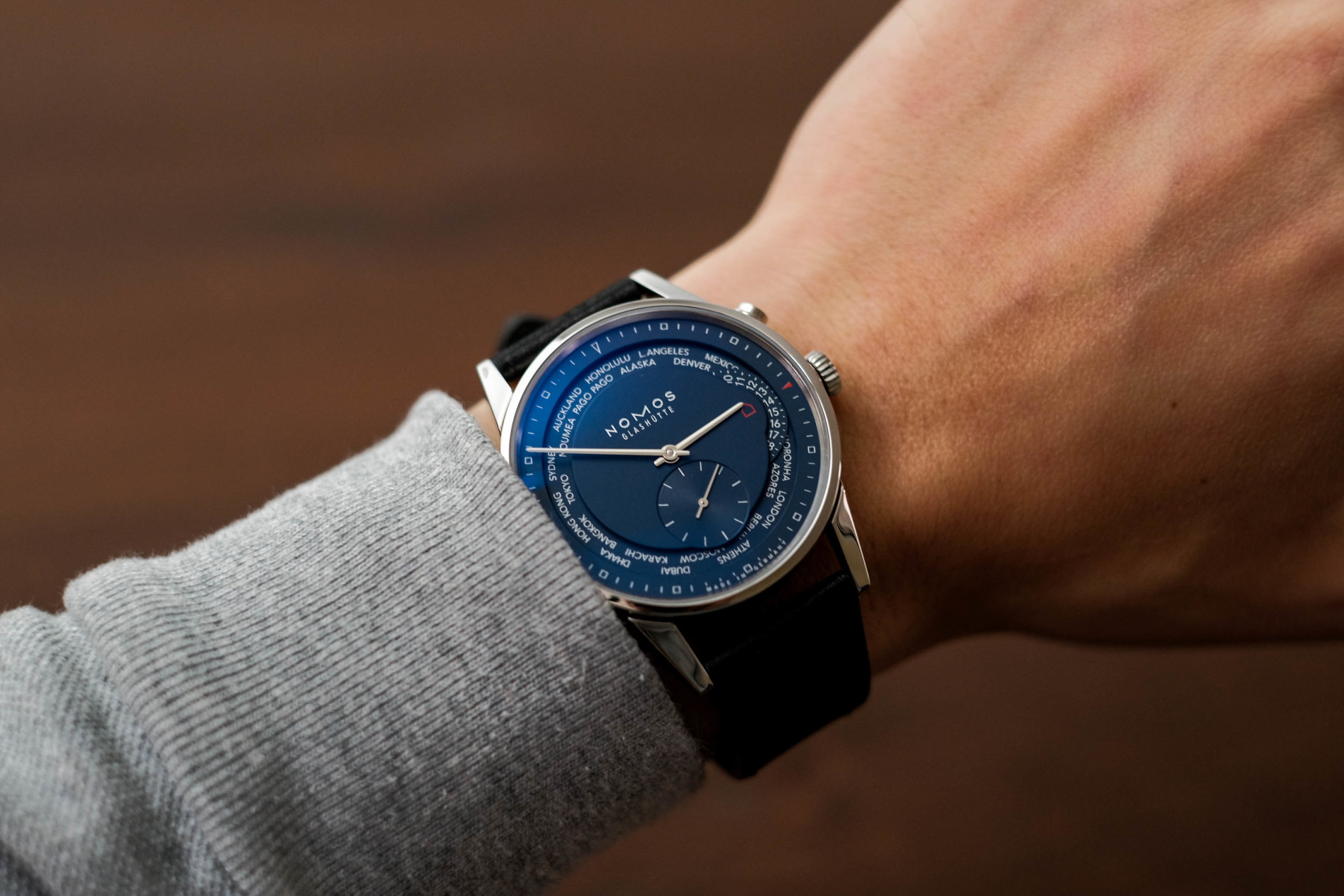 Nomos Zurich wrist shot