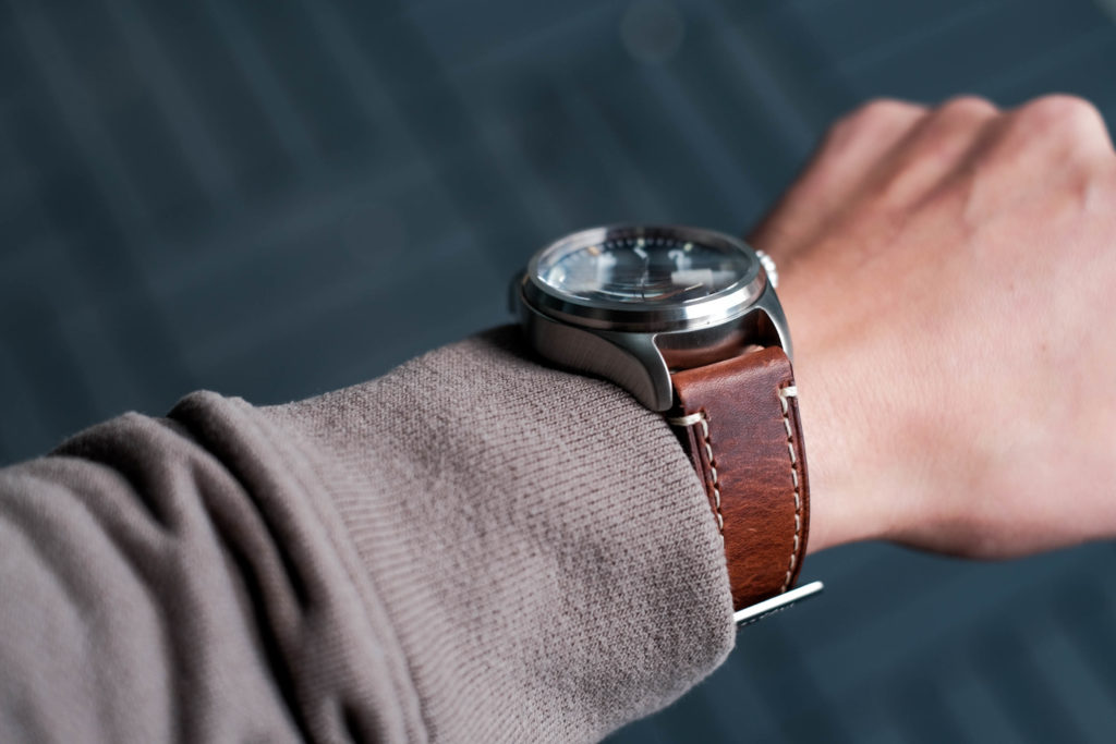 Thick large case on wrist