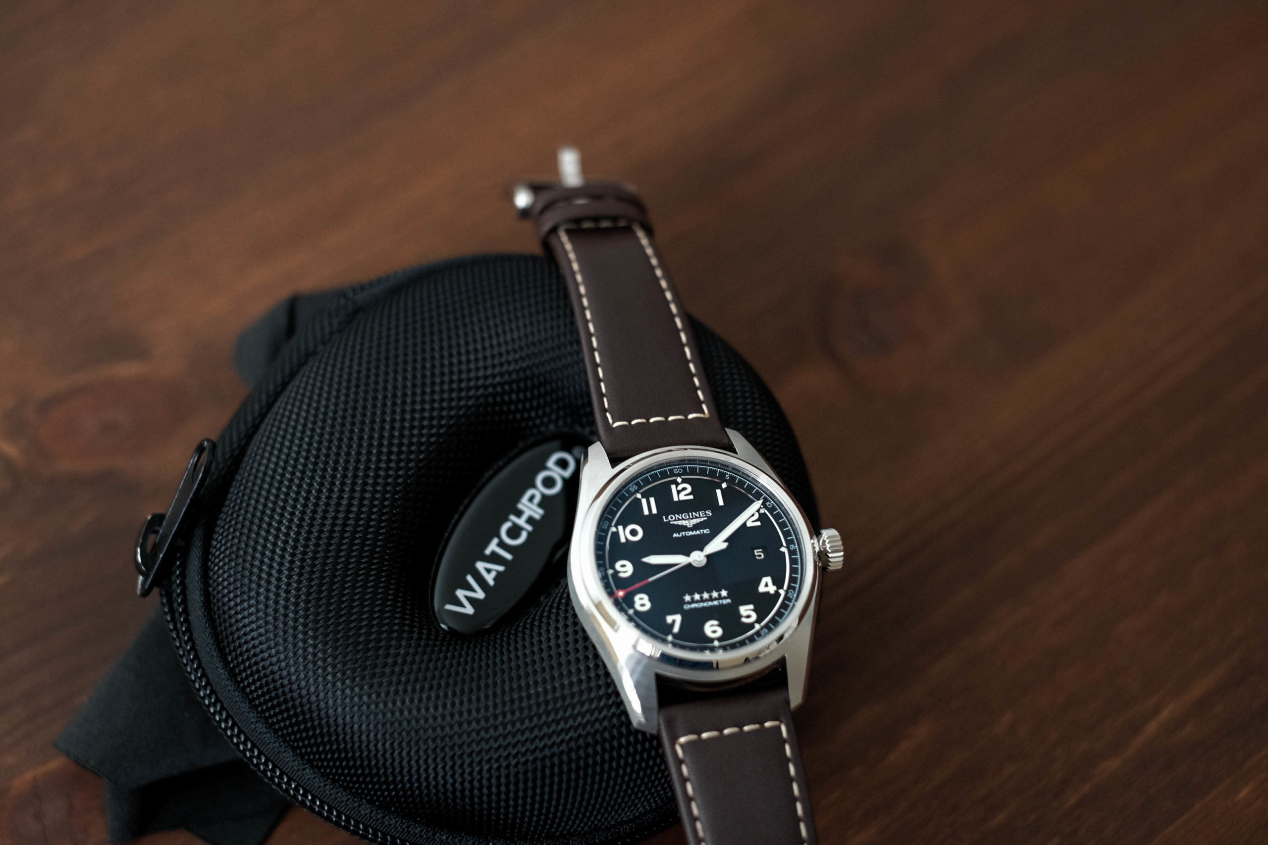 Longines Spirit with the WATCHPOD single travel case