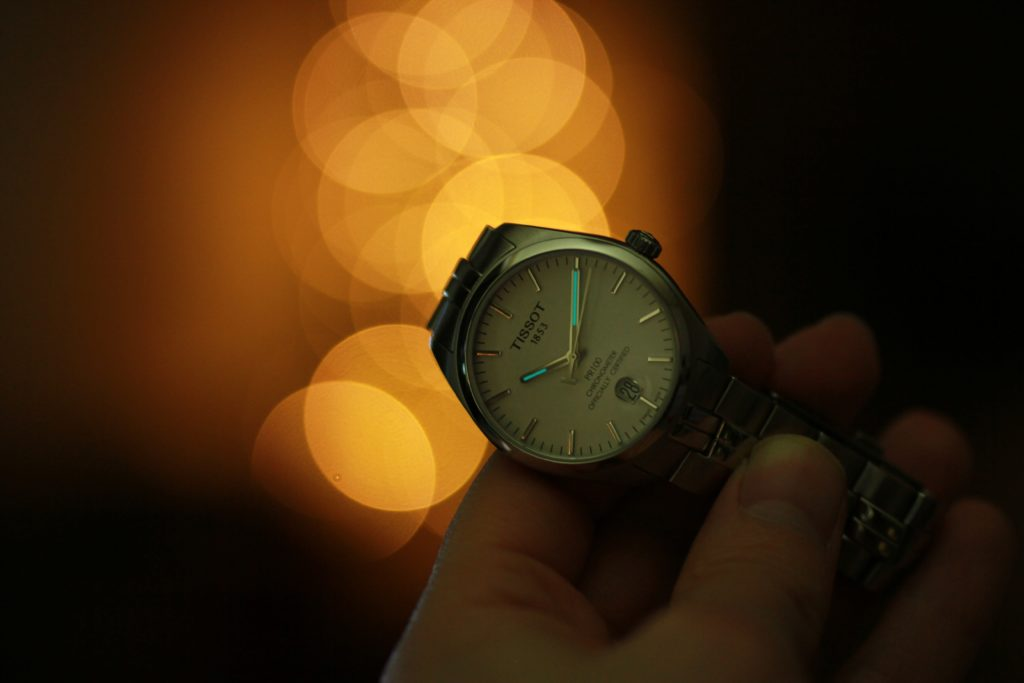 Watch photo with background bokeh