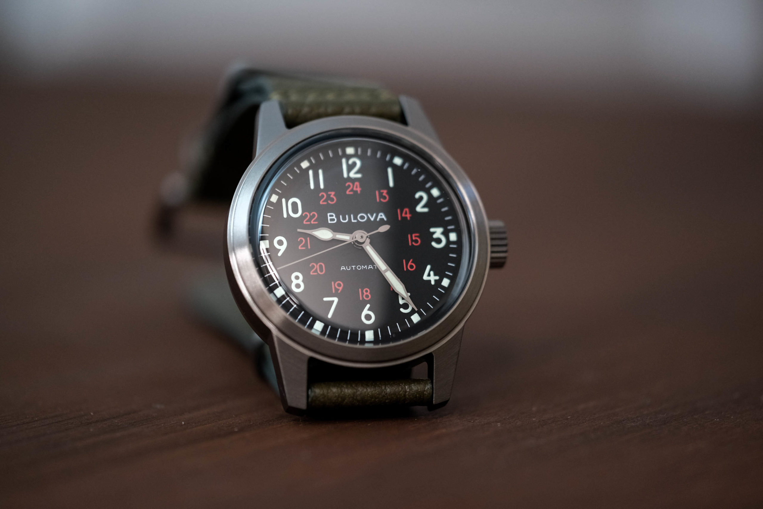 The Hack watch military dial
