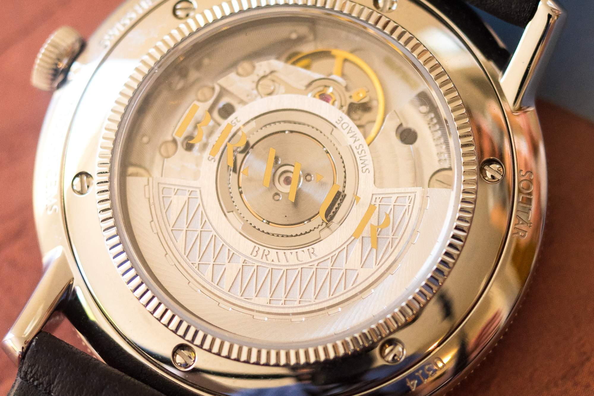 caseback and movement