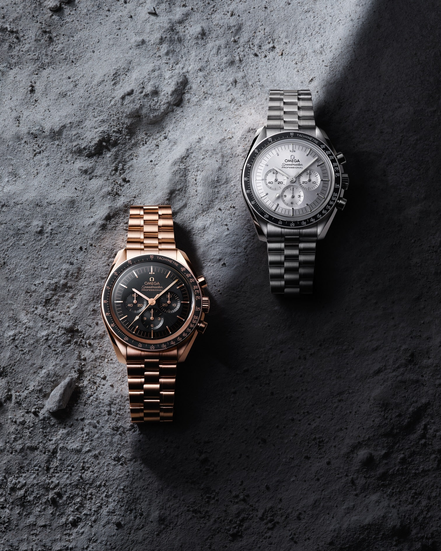 Gold and stainless steel versions