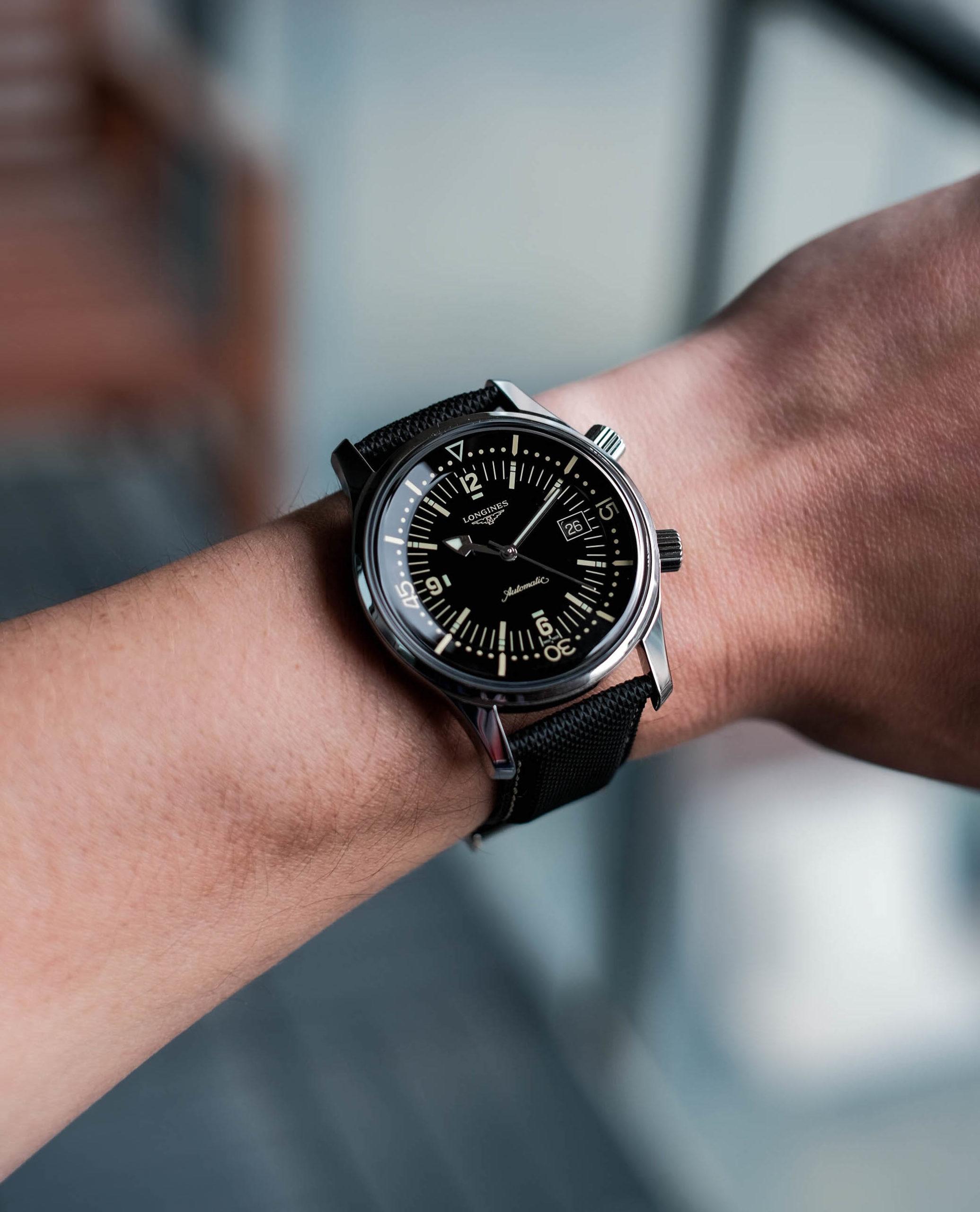 Longines Legend Diver on wrist