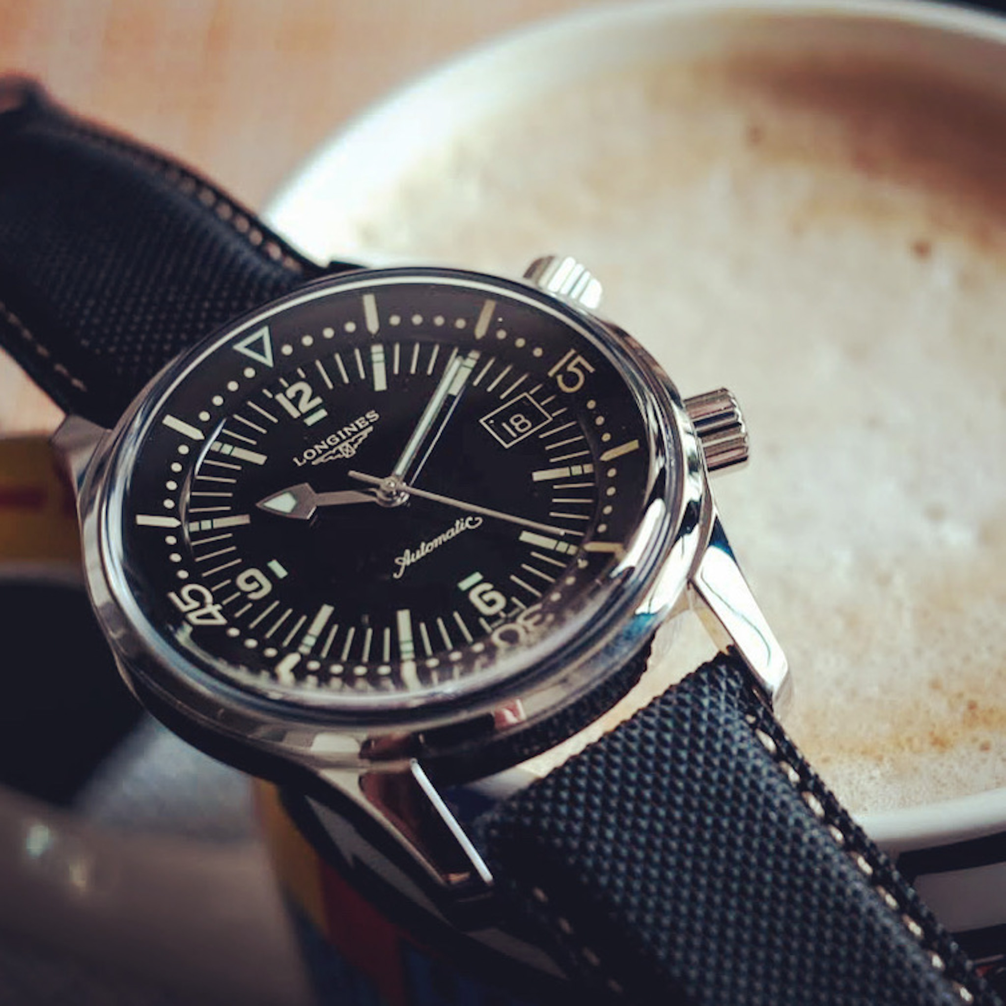 Legend Diver 42mm dial with coffee