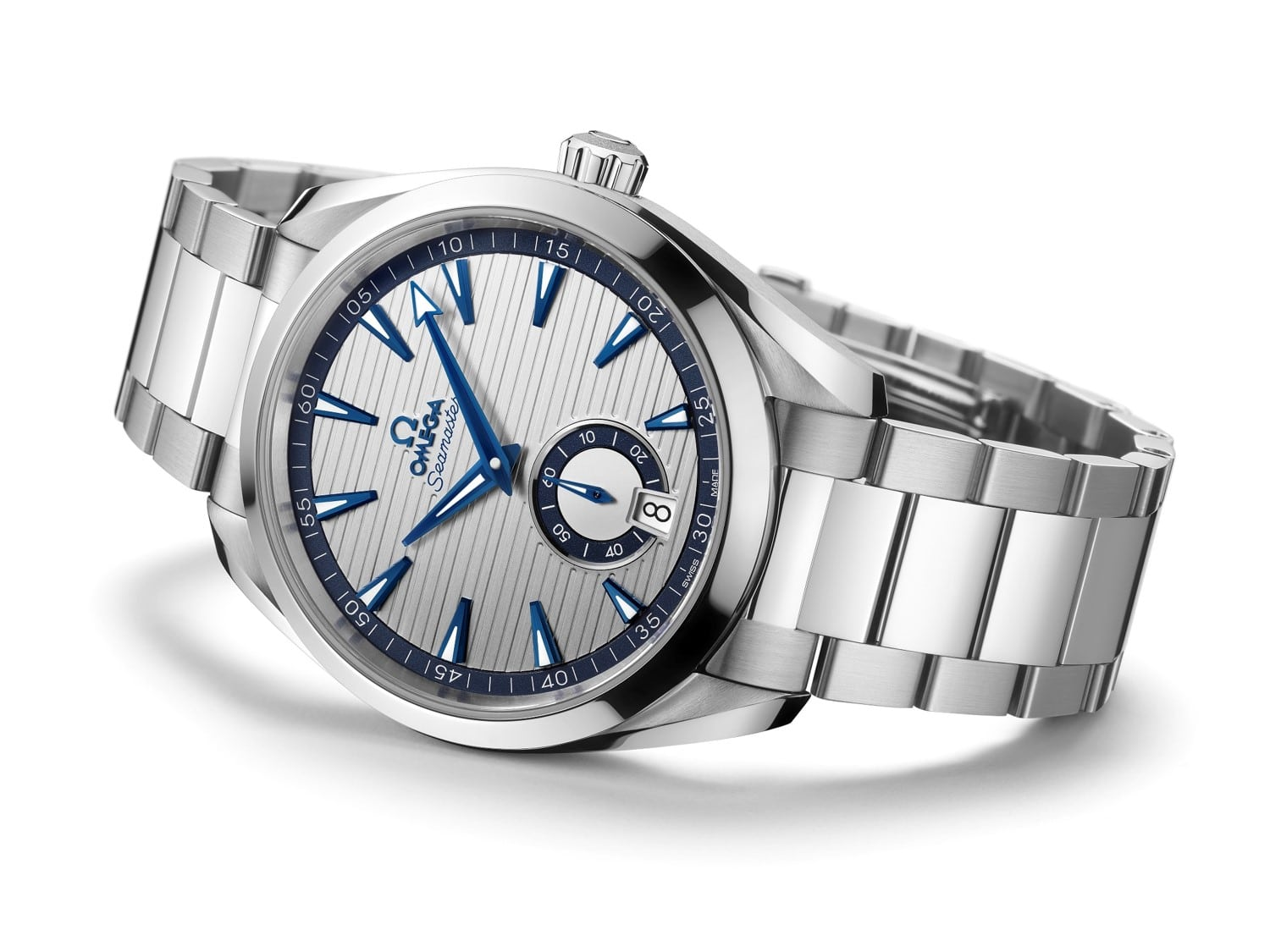 Omega small seconds silver dial