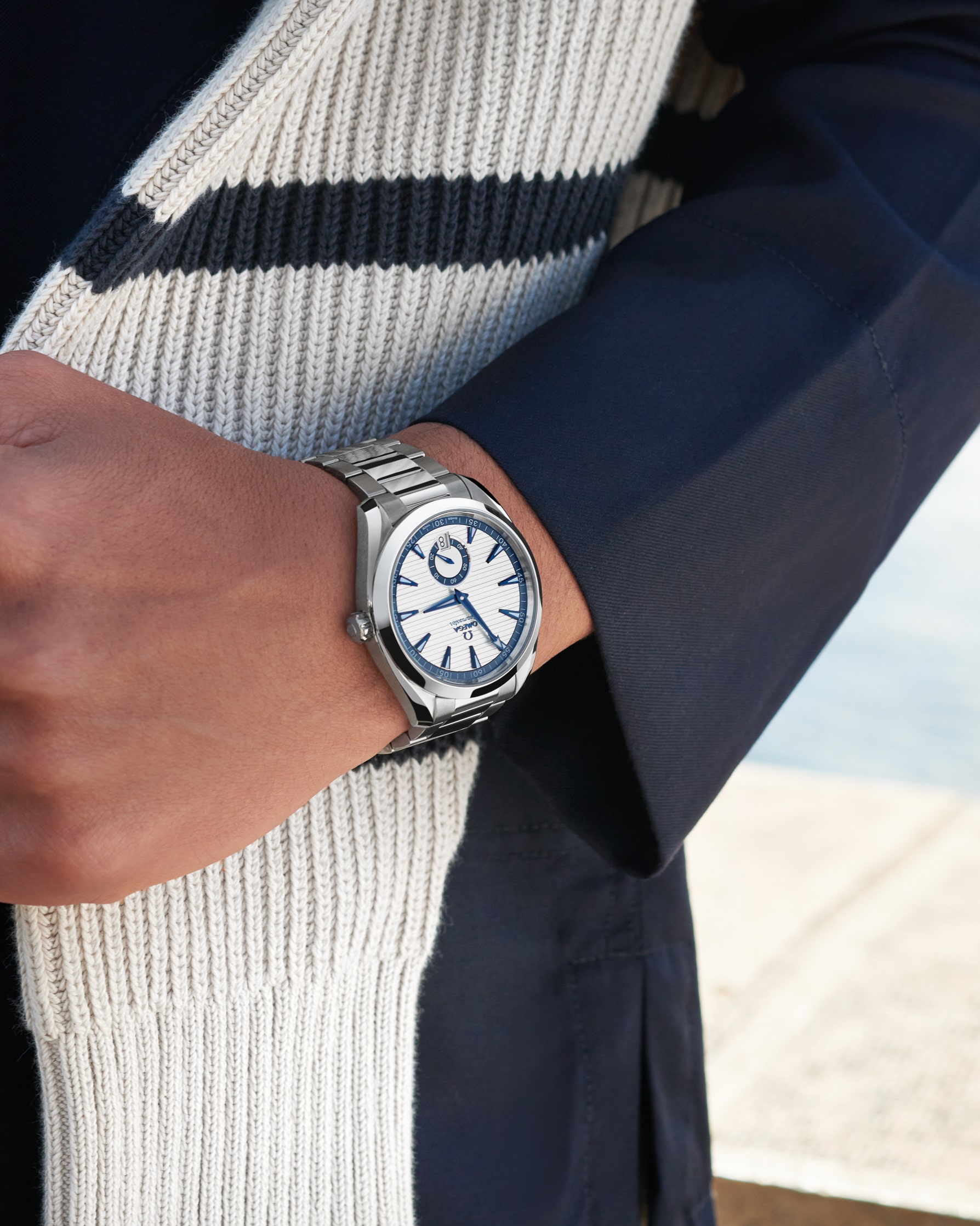 Omega small seconds on wrist
