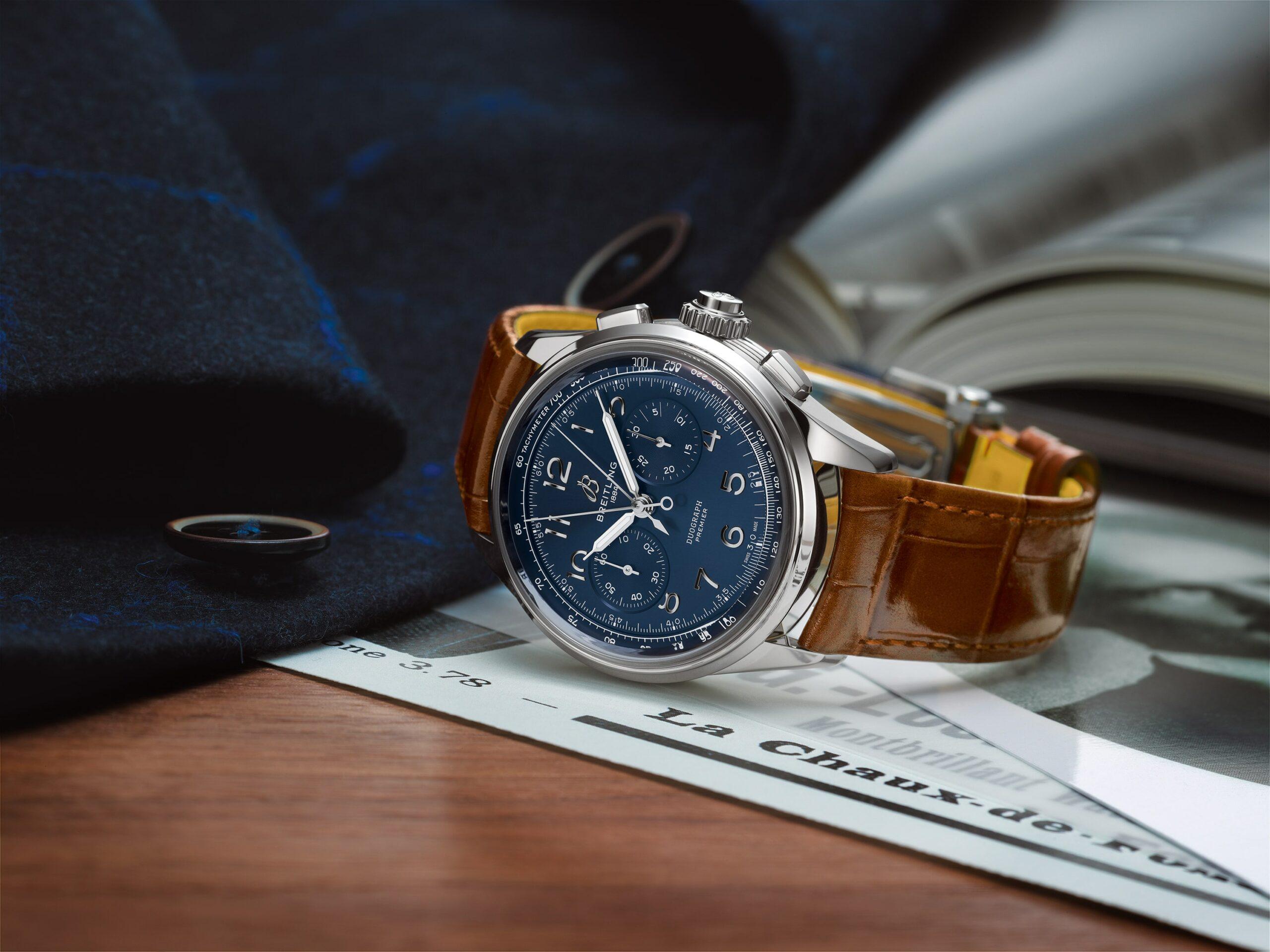 Breitling Premier Heritage blue dial