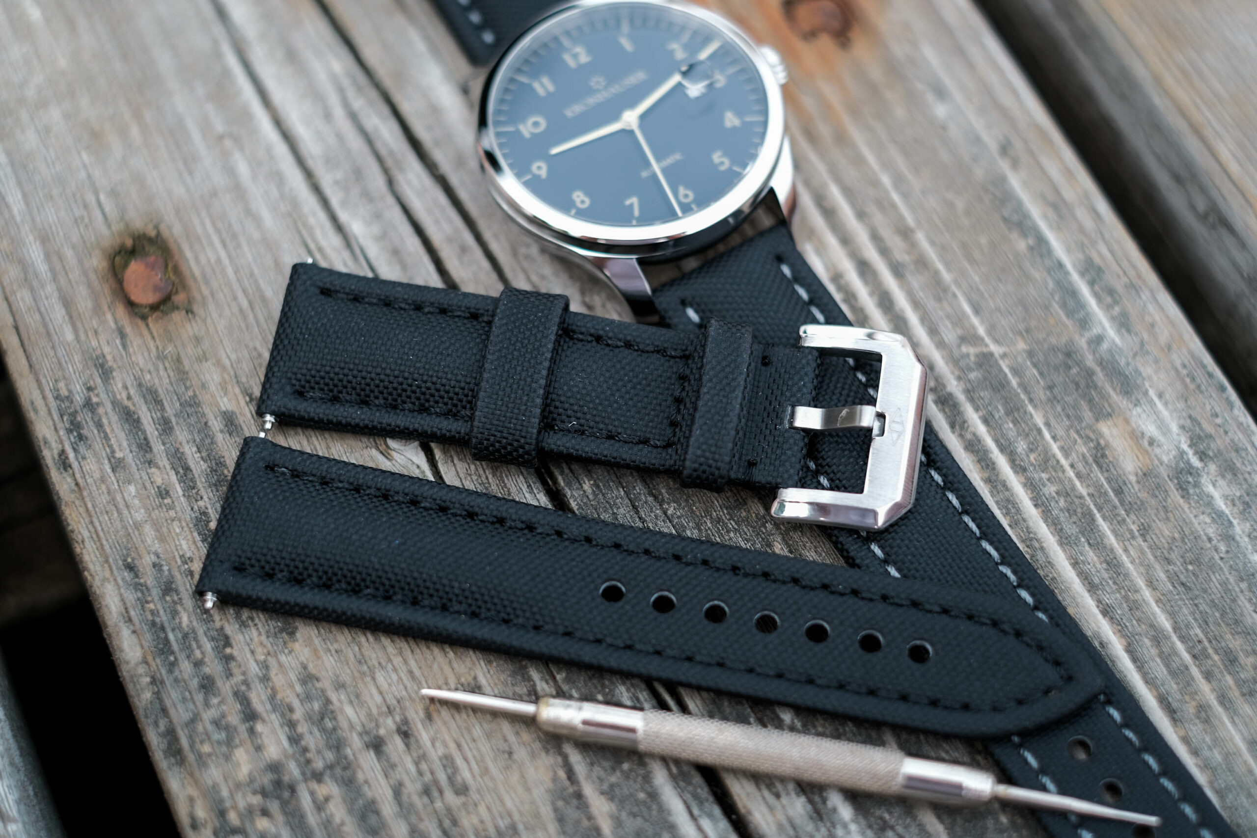 Photo with watch strap tool