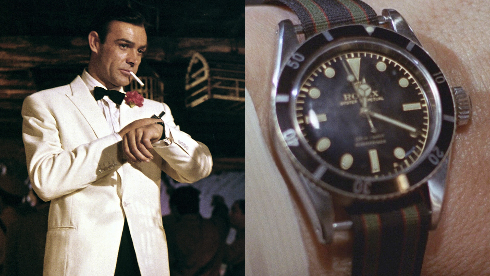 Sean Connery wearing the Submariner