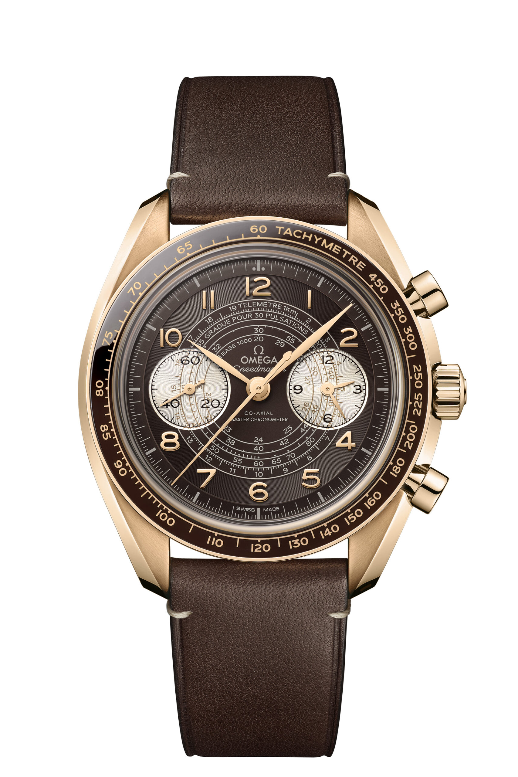 Gold case brown dial